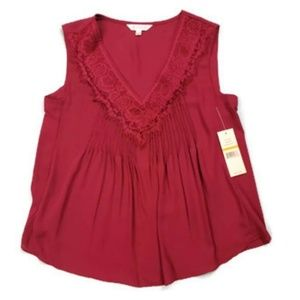 Nanette Lepore New! Lacy Pleat Blouse Sleeveless